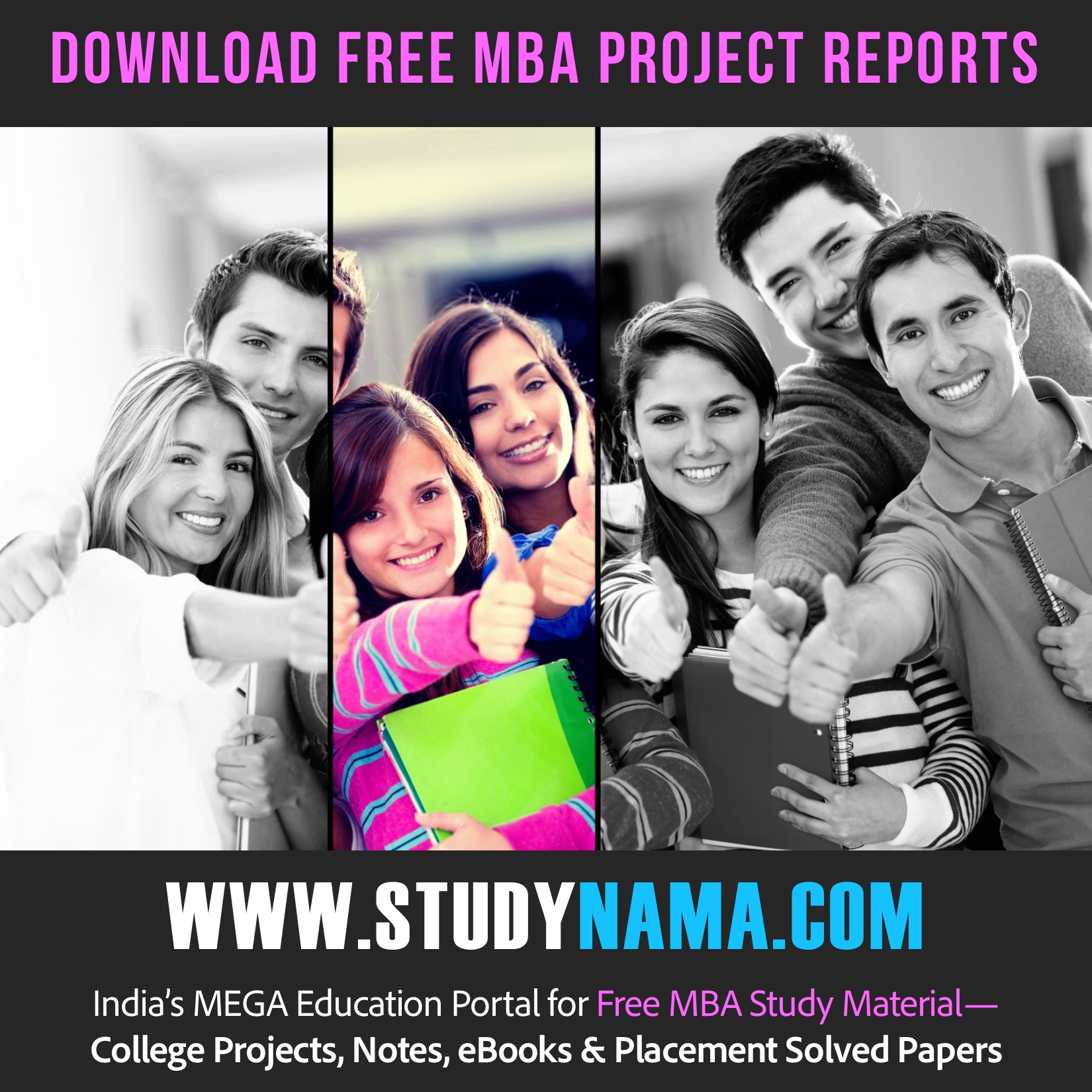 MBA Marketing Projects, Training Reports, Presentations